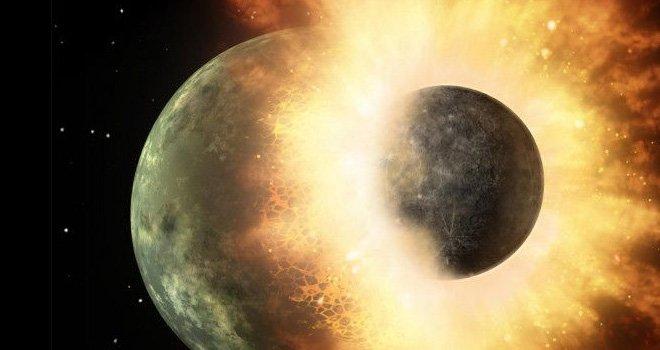 La formación de la luna por impacto