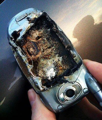 cuidar la batería litio ión quemado