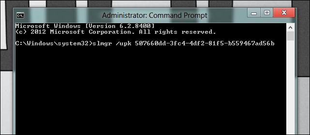 desinstalar serial de Windows key de WIndows