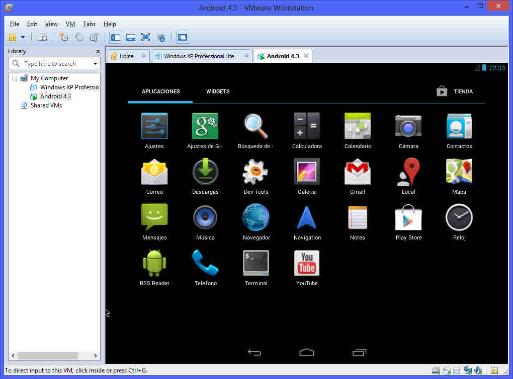 Instalar Android en una maquina virtual usando VMWare en Windows