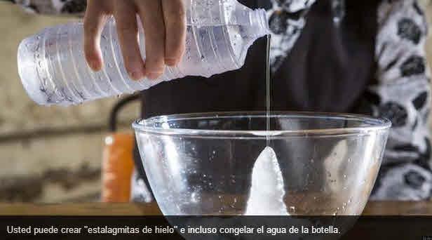 hielo al instante con sal