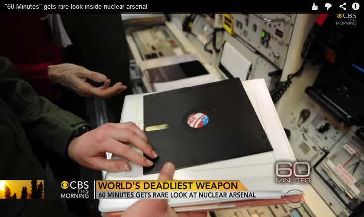 diskettes para controlar armamento nuclear