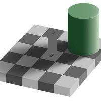 Una Ilusión óptica muy popular, el tablero de Adelson