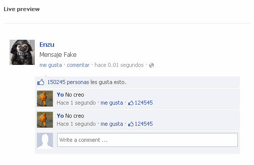 simitator hacer publicaciones de facebook falsas