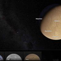 Ahora puedes explorar la Luna y Marte por Google Maps