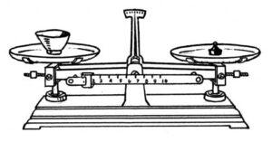 balanza de precisión para medir masa