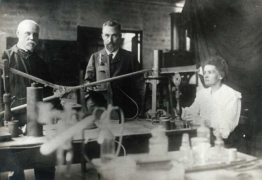 Marie y Pierre Curie en Paris
