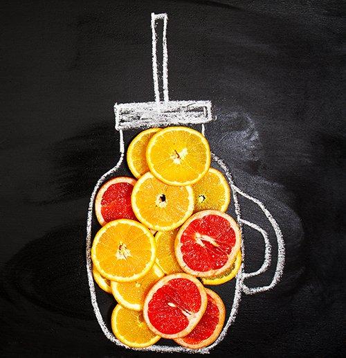 jugo de frutas detox