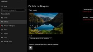 pantalla de bloqueo windows 10