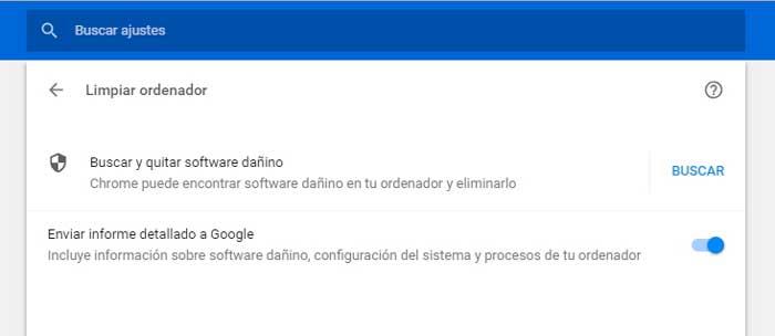 eliminar malware de google chrome