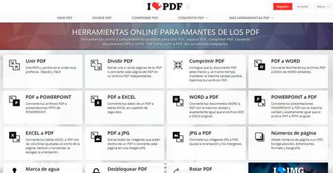 Una de las herramientas de PDF online mas completas que existe: ilovepdf 4
