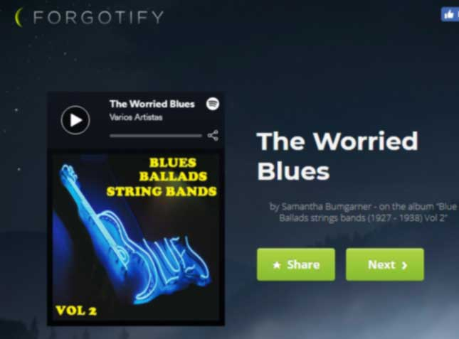 forgotify busca canciones desconocidas en spotify