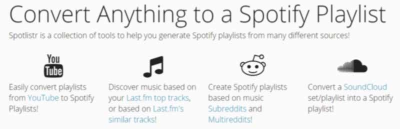 spotlistr herramienta para spotify