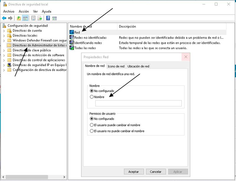 cambiar nombre de red local en windows 10