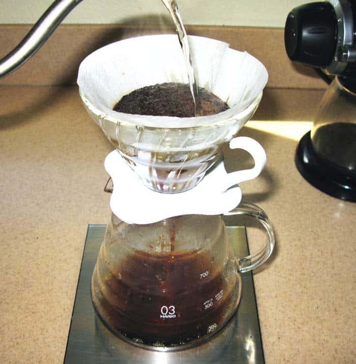 Proceso de filtración del café