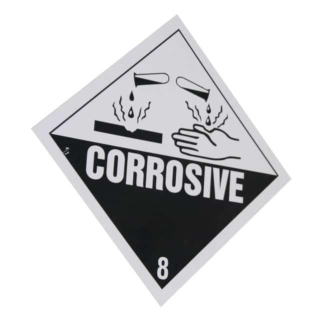 Señal de alerta corrosivo acido